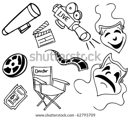 Movie Item Doodles Stock Vector Royalty Free 62793709