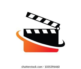 Movie Logo Template Design Vector, Emblem, Design Concept, Creative Symbol, Icon