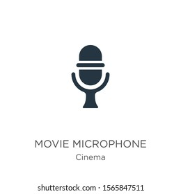 Movie microphone icon vector. Trendy flat movie microphone icon from cinema collection isolated on white background. Vector illustration can be used for web and mobile graphic design, logo, eps10