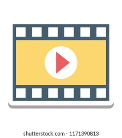Movie Player, Video Player Vector Icon