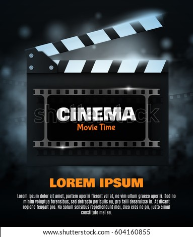 Movie Poster Flyer Template Online Cinema Image Vectorielle De Stock