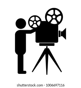 Movie producer vector icon isolated on white background