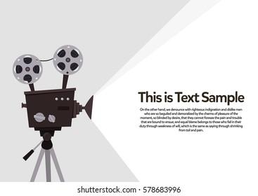 Movie Projection Retro Camera