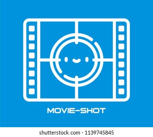 MOVIE SHOT VECTOR ICON