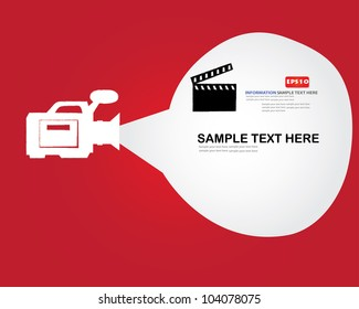 Movie sign and bubble for text,Vector