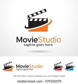 Movie Studio Logo Template Design Vector