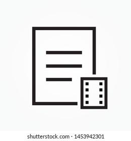 movie subtitles icon design  vector illustration
