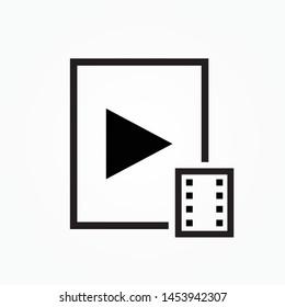 movie subtitles single icon design  vector illustration