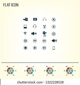 Movie symbols vector set
