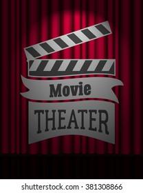 movie poster flyer template online cinema のベクター画像素材