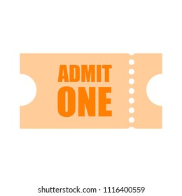 movie ticket. vector Admit one illustration, admission pass