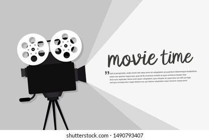 Movie time concept. Cinema banner design