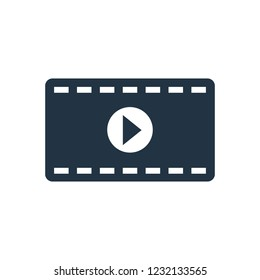 Movie vector icon isolated on white background, Movie logo concept for your design
