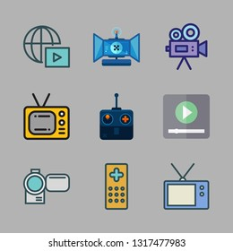 movie vector icon set