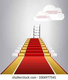 Moving up to the clouds. Red carpet for awards and ceremonies
