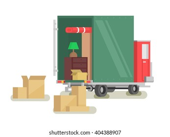 Moving furniture loading