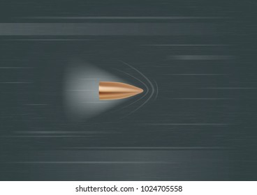 Moving Gun Bullet Shot. Vector illustration
