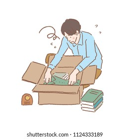 Moving illustrations for moving packing