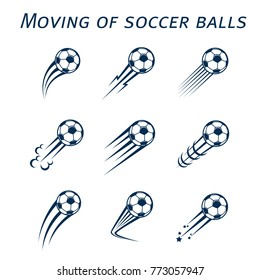 Moving of soccer balls
