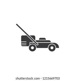 Mower machine vector icon