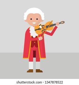 Mozart playing violine