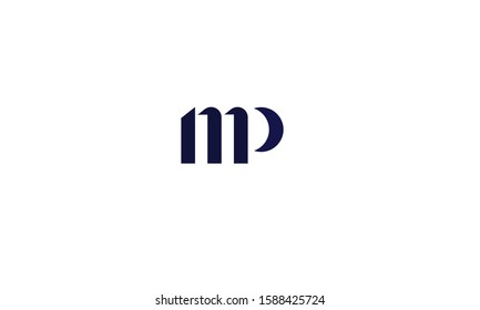 MP abstract vector logo monogram template