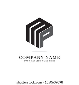 MP clever logo initial design, clean and strong brand vector
