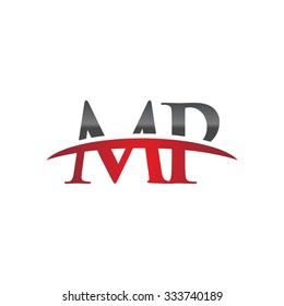 MP initial company red swoosh logo