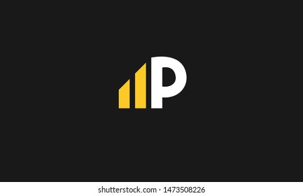 MP initial modern abstract icon letter logo vector