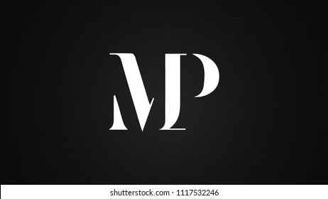 MP Letter Logo Design Template Vector
