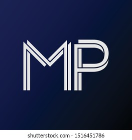 MP letter logo and icon design