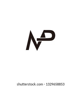 mp letter vector logo