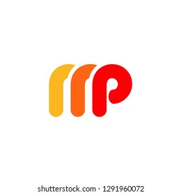 MP logo initial M sign commbination M