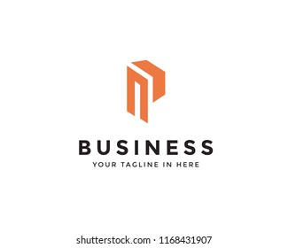 Mp orange logo, M logotype, M Business logo