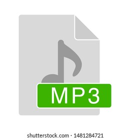 mp3 file icon. flat illustration of mp3 vector icon. mp3 sign symbol