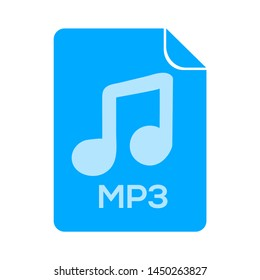 mp3 file icon. Logo element illustration. mp3 file design. colored collection. mp3 file concept. Can be used in web and mobile