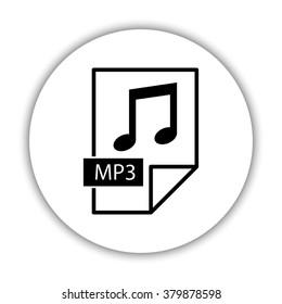 mp3 icon  - black vector icon