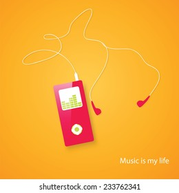 MP3 Music Player - Vector