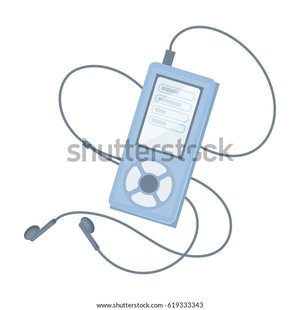 Mp3 Player Listening Music During Workout เวกเตอร์สต็อก (ปลอดค่า