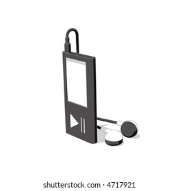 mp3 player (vector)