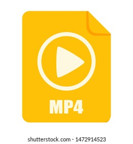 MP4 file icon. MP4 File Vector Logo element illustration. MP4 file design. MP4 file concept. Can be used for web and mobile development