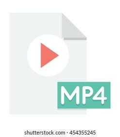 MP4 File Vector Icon