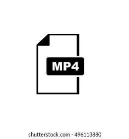 MP4 Icon,MP4 file icon,extension icon
