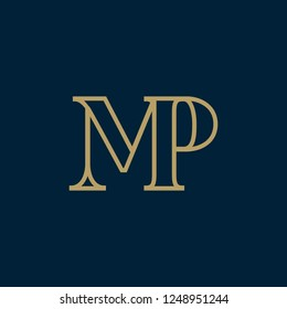 MP_logo. Vector illustration.