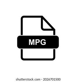 MPG file format icon vector sign symbol
