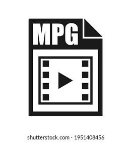MPG File Icon, Flat Design Style