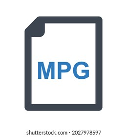 Mpg file icon.page,type (vector illustration)