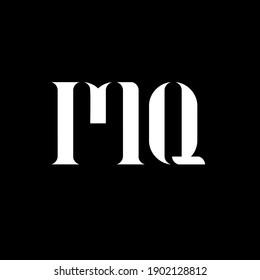 MQ M Q letter logo design. Initial letter MQ uppercase monogram logo white color. MQ logo, M Q design. MQ, M Q