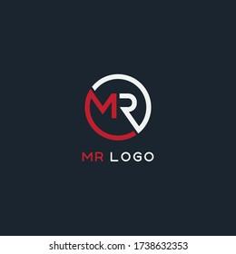 MR logo design. Vector illustration.