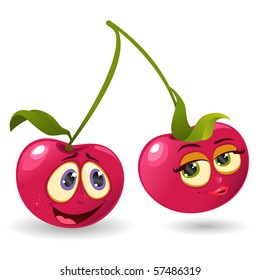 Mr and Mrs Cherry Cartoon Character